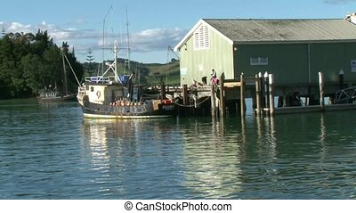 Commercial fishing port Mangonui - commercial fishing boat...
