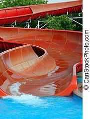 Aquapark slide - Aqua park slide, outdoor summer activities
