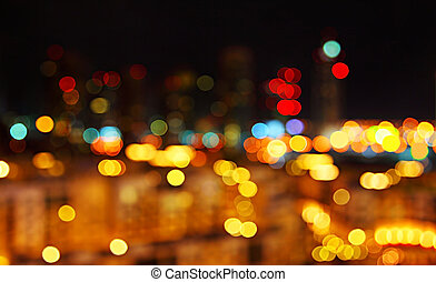 Abstract city lights background - Abstract bokeh night city...