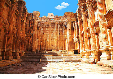 Jupiters temple, Baalbek, Lebanon - Jupiters temple ancient...