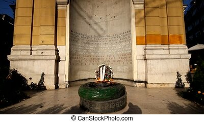 Eternal flame, Sarajevo, Bosnia and Herzegovina