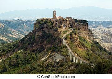 Civita di Bagnoregio is a town in the Province of Viterbo in...
