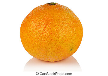 Mandarin fruit on white background.