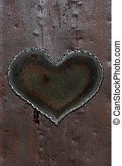 Rusty metal heart