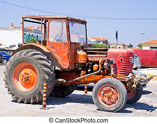Orange Tractor