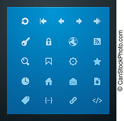 Universal glyphs 7. Web icons