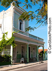 Typical house in Cienfuegos, Cuba - Typical house in...