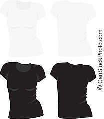 women's t-shirt template, vector