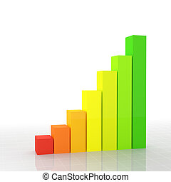 financial chart - fine 3d image of financial graph