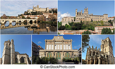 Beziers monuments - monuments and gothic architecture of...