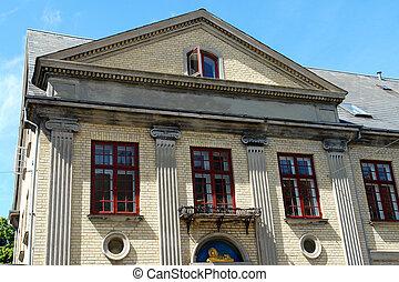 Palladian, neo, classico, architettura, stile, casa