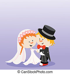 Wedding - Cute married characters