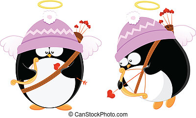Cupid Penguins - Cute cupid penguins