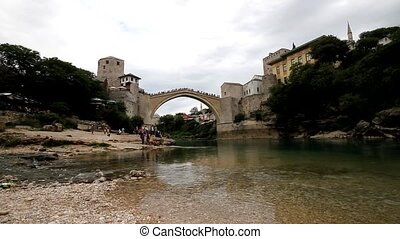Old bridge in Mostar, Bosnia and He