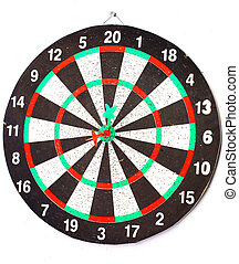 target with arrow isolated on whit
