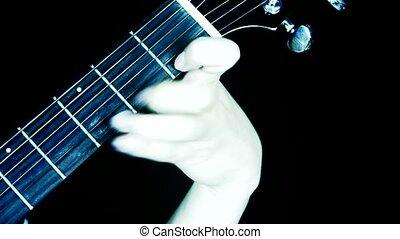 playing guitar,strum.