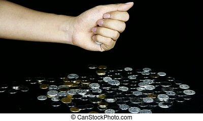 Coin Fall from hand.