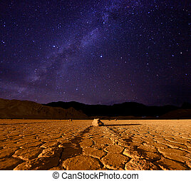 Beautiful Milky Way Formation in Death Valley California -...