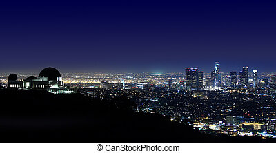 Los Angeles Above Griffith Observatory Los Angeles,...