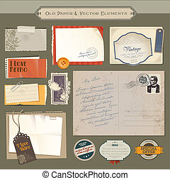 Vintage papers and elements
