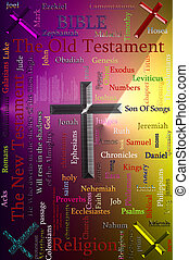 Bible andReligion Related Text Design Element as word cloud