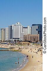 Tel-Aviv beach .Jaffa. Israel.