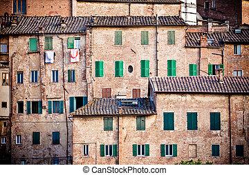 Siena, histórico, arquitetura