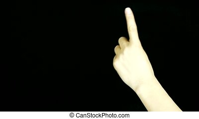 Count from one to five,hand sign