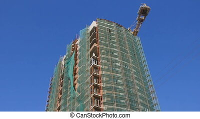 Building site at background blue sky