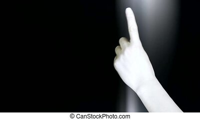 Count from one to five,hand sign and rays lights