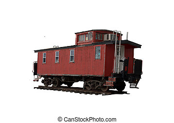 Red Caboose - Antique train, red caboose more specifically.