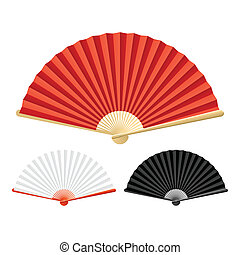 Folding fans vector illustration