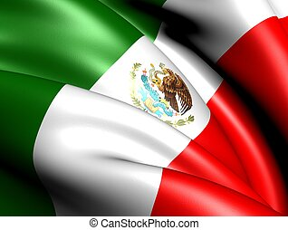 Flag of Mexico Close up