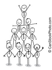 organization chart teamwork vector illustration