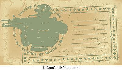Army post stamp