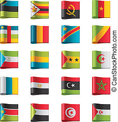 Vector flags. Africa, part 10 - Set of detailed flags as...
