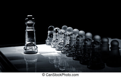 glass chess pawns in order ,against