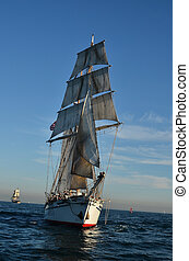 Tall Ship - Tall ship at sea