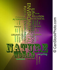 Nature environmental Related Text Design Element as word...