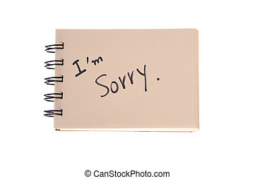 Say sorry with a text message on paper