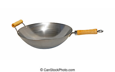 Wok pan isolated included clipping path