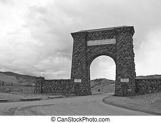 Roosevelt Arch, Yellowstone National Park - Roosevelt Arch,...