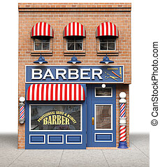 Barber Shop - Barbershop isolated on a white background