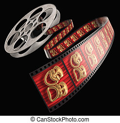 Movie Reel - Movie film reel isolated on a white background...