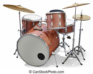 Drumkit - A Jazz drumkit on a white background