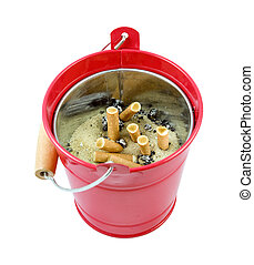 cigarette ash tray bucket isolated on a white background