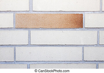 Clinker brick - Wall with clinker bricks and grey joints
