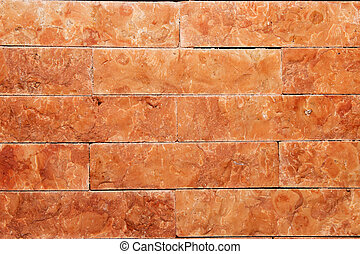 Clinker brick - Wall with brown clinker bricks