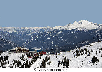 Peak to Peak Gondola station at Whistler - Coast Mountains...