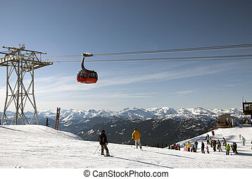 Peak to Peak Gondola at Whistler - Coast Mountains at...